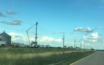 Mid American Crews Repair 69kv Line From Tornado Aftermath